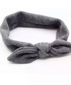 Haarband met ingeweven strik Grijs