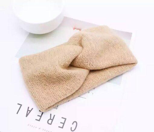 Haarband in wol ( beige )