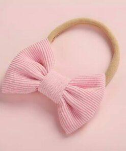 Haarband met strik Babyroze