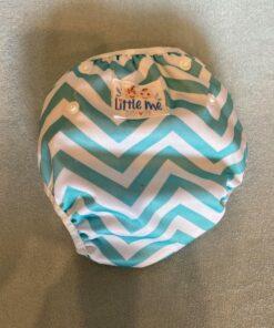 Herbruikbare / verstelbare zwemluier wit/blauw gestreept