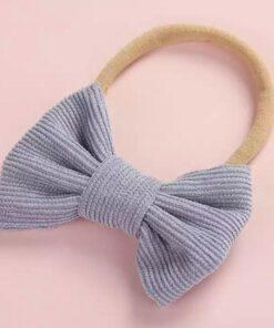Haarband met strik blauw