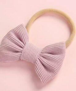 Haarband met strik paars