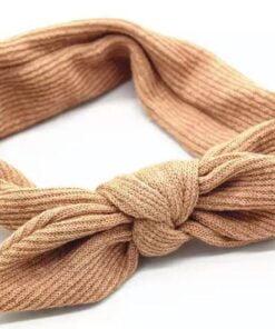 Haarband met ingeweven strik Beige