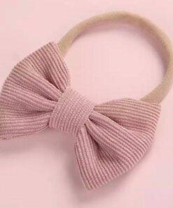 Haarband met strik Oudroze