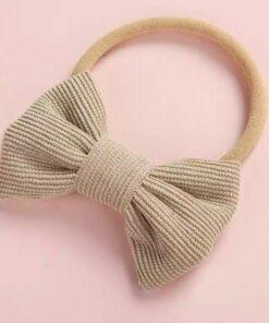 Haarband met strikje Beige