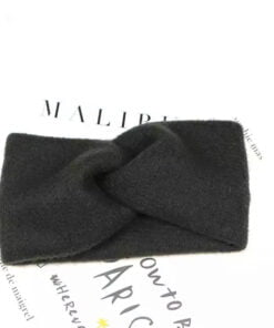 Haarband in wol ( Zwart )