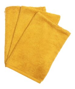 Washandjes ( set of 3 ) Ochre