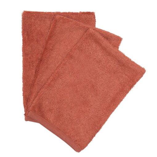 Washandjes ( set of 3 ) Apricot Blush