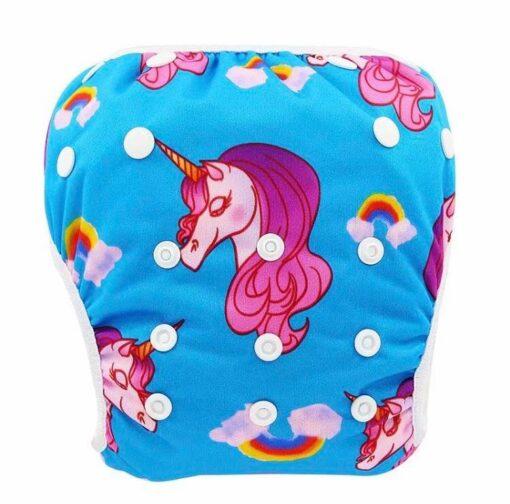 Herbruikbare / Verstelbare zwemluier met Unicorn